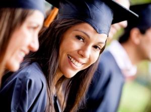 Woman in her graduation